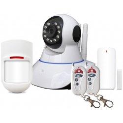 Охранная беспроводная видео сигнализация с поворотной камерой Sapsan Pro 8