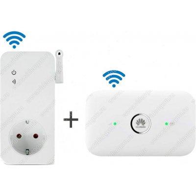 Умная дистанционная gsm розетка с датчиком температуры и роутером Smart-T-GSM