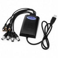 4-х канальный USB видео/аудио AHD регистратор для видеозахвата USB-AHD4 A86