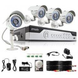 Проводной комплект видеонаблюдения Zmodo 4CH на 4 камеры