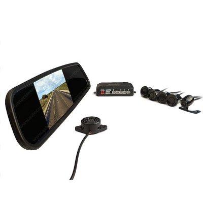 Беспроводной парктроник в зеркале с камерой заднего вида ATS604B-W