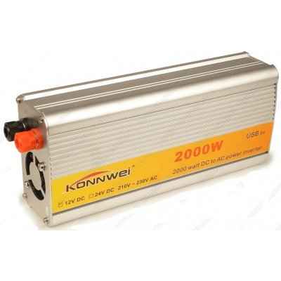 Автомобильный инвертор (преобразователь напряжения) Konnwei-2000