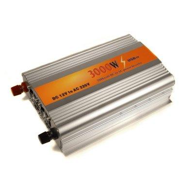 Автомобильный инвертор (преобразователь напряжения) Konnwei-3000