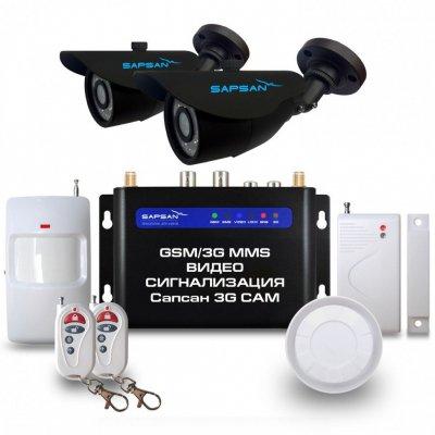 Комплект GSM сигнализации с 2-мя уличными камерами Sapsan MMS 3G-CAM Street