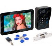 Цветной видеодомофон с записью, электромеханическим замком и считывателем Ennio D11