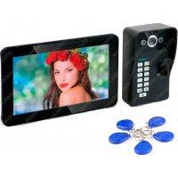 Видеодомофон с записью и кодовой биометрической вызывной панелью Ennio F11