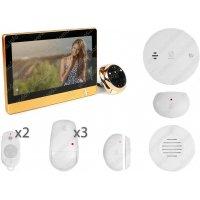 Дверной wi-fi видеоглазок с функциями сигнализации и записью i-Corder iHome-4G