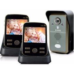 Беспроводной видеодомофон с записью фото на 2 трубки Kivos Duo Black (ФОТО-302)