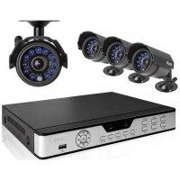 Проводной уличный комплект видеонаблюдения на 4 камеры Millenium Basical