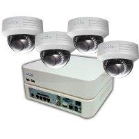 Проводной PoE IP комплект видеонаблюдения на 4 камеры IVUE Office Pro IP 4CH