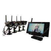 Беспроводной комплект видеонаблюдения на 4 камеры Квадро Склад Автоном
