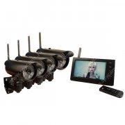 Беспроводной комплект видеонаблюдения на 4 уличные камеры Квадро Стрит Автоном