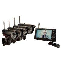 Беспроводной уличный IP видеокомплект на 4 камеры c записью Квадро Стрит Автоном