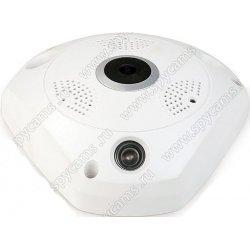 Панорамная Wi-Fi IP камера c записью на карту памяти и двухсторонним аудио Link F36W-8G