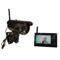 Беспроводной IP видеокомплект c записью на 1 уличную камеру Стрит Автоном мини 8107