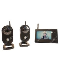 Беспроводной IP видеокомплект c записью на 2 внутренние камеры DUO Home Автоном мини