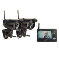 Беспроводной IP видеокомплект c записью на 2 уличные камеры DUO Стрит Автоном мини