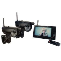 Беспроводной IP видеокомплект c записью на 2 уличные камеры DUO Стрит Автоном
