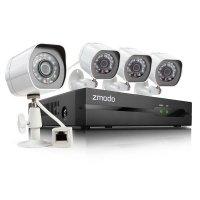 Профессиональный проводной цифровой IP комплект на 4 HD камеры Zmodo IP 4CH 1 Тб
