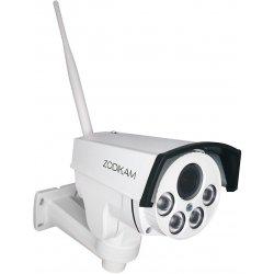 Уличная поворотная 3G 4G IP камера c 4х зумом и записью на карту памяти Zodikam 206