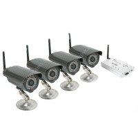 Беспроводной комплект видеонаблюдения уличный на 4 камеры Квадро Эксперт