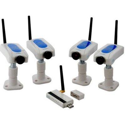Беспроводной комплект видеонаблюдения с записью на ПК Квадро Home PC