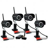 Беспроводной комплект видеонаблюдения с записью на ПК Квадро Night PC