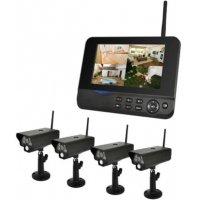 Видеокомплект беспроводной с записью на SD/HDD Квадро Офис LCD