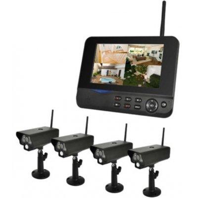 Беспроводной комплект видеонаблюдения с записью на SD/HDD Квадро Офис LCD
