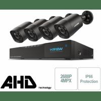 Проводной комплект видеонаблюдения H.View Premium AHD 4CH с камерами 4Mp