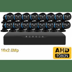 Проводной Full-HD комплект видеонаблюдения на 16 камер H.View Pro 16CH AHD