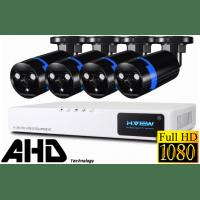 Профессиональный проводной Full-HD видеокомплект на 4 камеры H.View Pro 4CH AHD