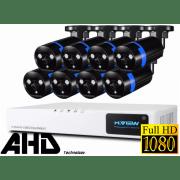 Проводной Full-HD комплект видеонаблюдения на 8 камер H.View Pro 8CH AHD