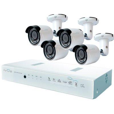 Проводной комплект видеонаблюдения IVUE Контроль AHD 8CH 4 Cam