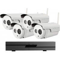Профессиональный беспроводной IP комплект на 4 уличные камеры IVUE Wi-Fi 4CH
