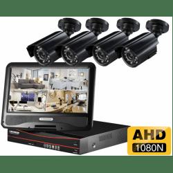 Проводной AHD комплект видеонаблюдения на 4 камеры Longse AHD LCD 4CH