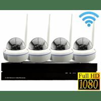 Беспроводной цифровой видеокомплект на 4 Full-HD купольные камеры Millenium Купол