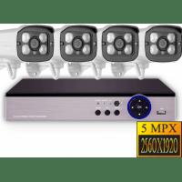 Проводной комплект видеонаблюдения Millenium Premium AHD 4CH с камерами 5Mp