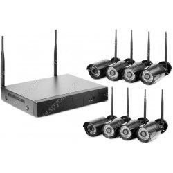Уличный цифровой Wi-Fi IP комплект видеонаблюдения Okta Vision Антрацит