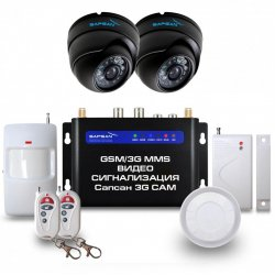 Беспроводная GSM MMS сигнализация с купольными камерами Sapsan 3G Cam Дом