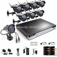 Профессиональный проводной комплект видеонаблюдения на 8 камер Zmodo 8CH Black
