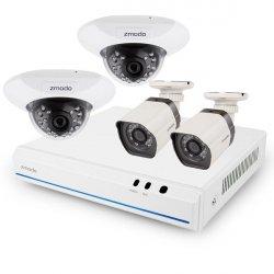 Цифровой HD PoE комплект видеонаблюдения Zmodo House IP на 4 камеры