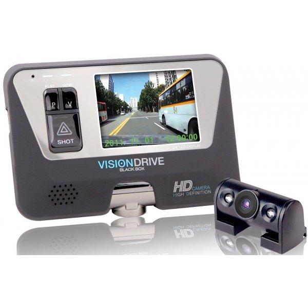 Видеорегистратор автомобильный с внешней камерой Visiondrive VD-8000HDS 2 CH