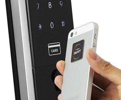 Купите автономный на батарейках врезной биометрический замок h-gang prisma f901