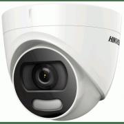 Купольная антивандальная HD-TVI камера 5Mp с LED подсветкой ColorVu HIKVISION DS-2CE72HFT-F28