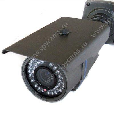 Аналоговая цилиндрическая видеокамера для улицы 1200 ТВЛ с 4х зумом Kadymay 6215T