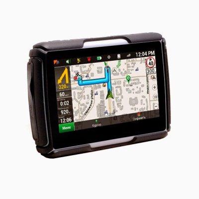 Влагозащищенный GPS навигатор для мотоцикла (мотонавигатор) AVIS DRC043G