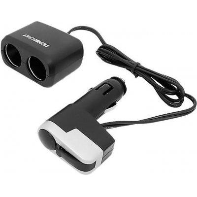 Автомобильный разветвитель прикуривателя на USB и 2 гнезда Millenium 097