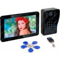 Цветной видеодомофон с записью и кодовой панелью со считывателем Ennio S11