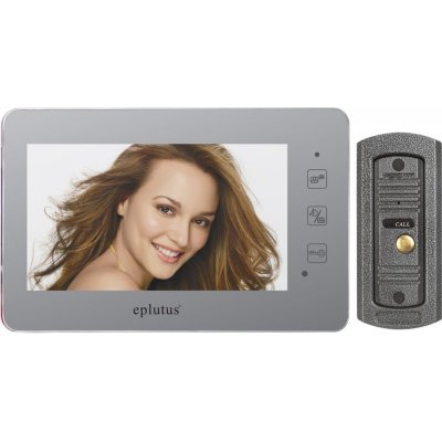 Проводной цветной видеодомофон с зеркальной поверхностью и записью видео Eplutus 2232